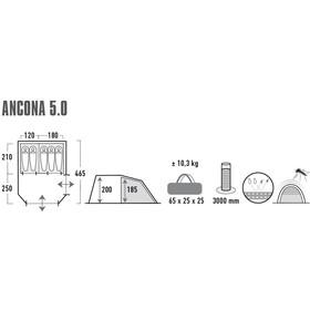 High Peak Ancona 5.0 Tente, nimbus grey